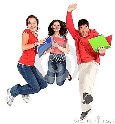 Étudiants heureux