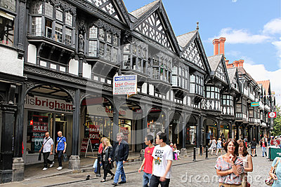 Tudor building in Northgate Street. Chester. England Editorial Stock Photo