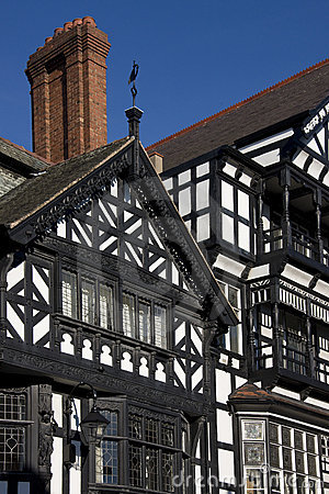 Tudor Buildings - Chester - England Editorial Stock Photo
