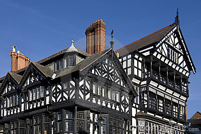 Tudor buildings - Chester - England Editorial Photo