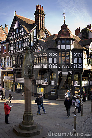 Tudor buildings - Chester - England Editorial Photography