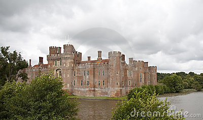 Tudor castle with moat