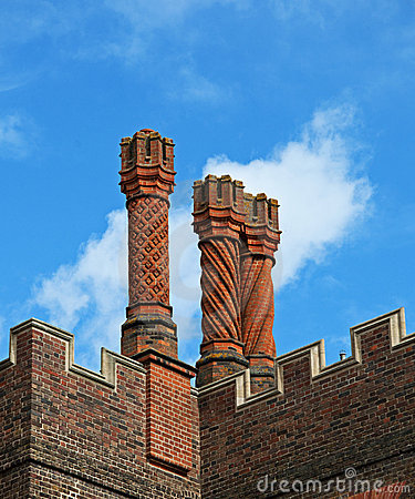 Tudor Chimneys at Hampton Court Palace