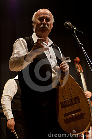 Tudor Gheorghe in concert at Izbiceni, Olt Editorial Photography