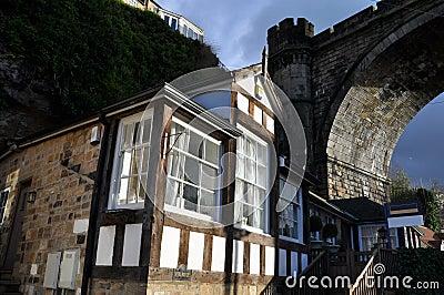 Tudor home near bridge  England