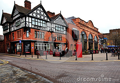 Tudor and Victorian style houses, Chester Editorial Photo