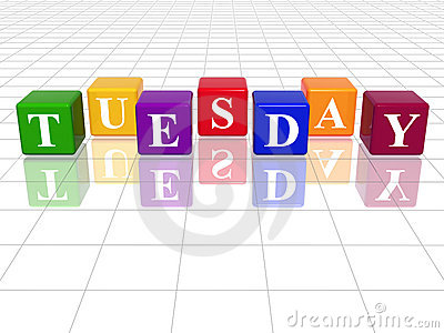 Tuesday in 3d coloured cubes