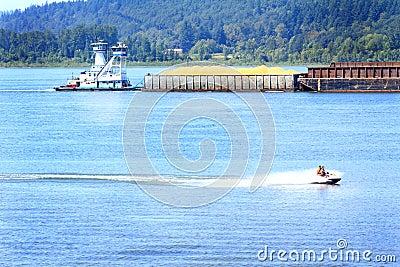 Tug, Barge and Jet Ski Traffic
