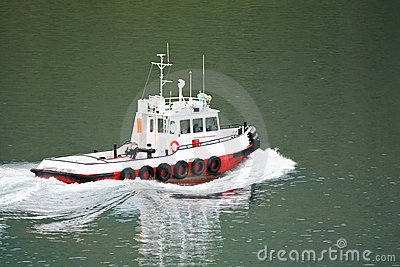 Harbor tug boat  in seaport, Akureyri - Iceland