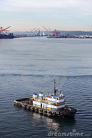 Tug boat in Seattle