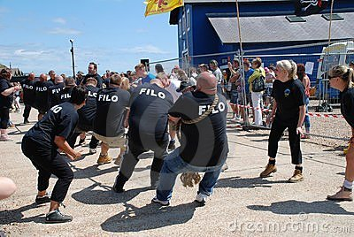 Tug of War, Hastings Editorial Stock Photo