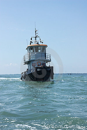 Tugboat at sea
