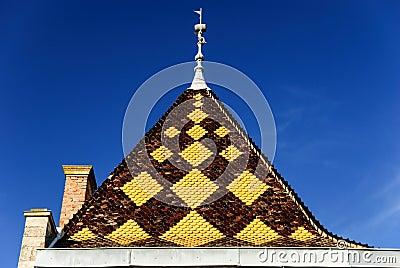tuile bourguignonne toit du palais dans le style architectural de bourgogne beaujolais de. Black Bedroom Furniture Sets. Home Design Ideas