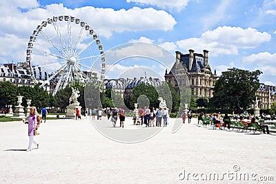 Tuileries Garden in Paris Editorial Image