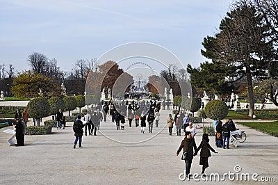The Tuileries gardens in Paris Editorial Stock Photo
