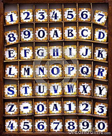Tuiles d alphabet