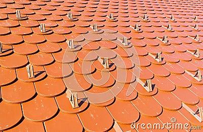 tuiles de toit sous forme de queue de castor photo stock image 41445425. Black Bedroom Furniture Sets. Home Design Ideas