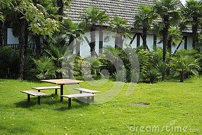 Tuin van Villa voor Vrije tijd