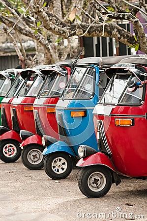 Tuk-tuk is a popular asian transport as a taxi.