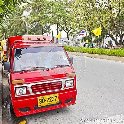 Tuk-Tuk, a small taxi in Patong. Editorial Photo
