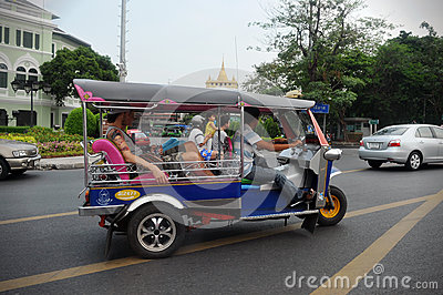Tuk Tuk Taxi in Bangkok Editorial Stock Image