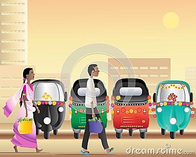 Tuk tuk taxi park