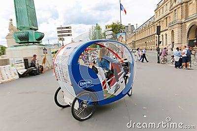 tuk tuk taxi transports in paris editorial stock photo image 46782223. Black Bedroom Furniture Sets. Home Design Ideas