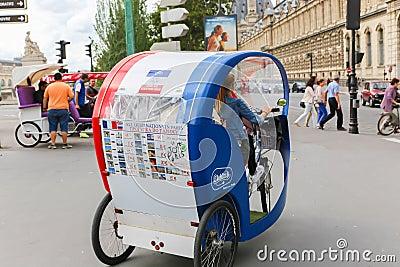 tuk tuk taxi transports in paris editorial stock image. Black Bedroom Furniture Sets. Home Design Ideas
