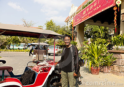 Tuktuk Driver Editorial Stock Image