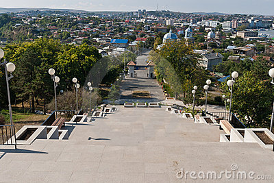 Tulcea, view from the top
