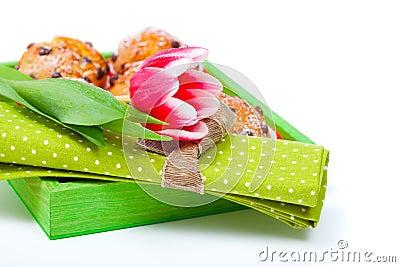 Tulip with a serviette