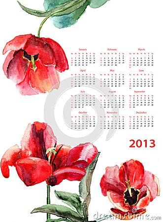 Tulipanów piękni kwiaty