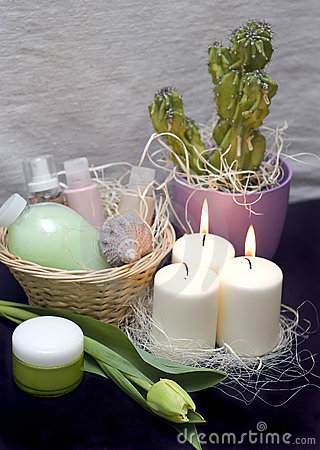 Free Tulips And Candles Stock Images - 4400384