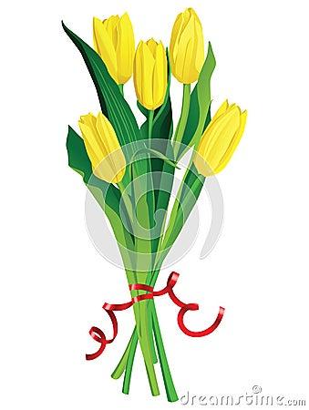 Tulips bouquette