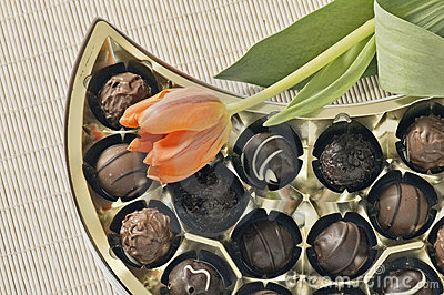 Tulips and  chocolates