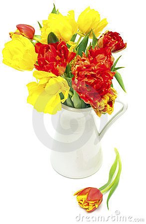 Free Tulips In A Vase Stock Image - 23558711