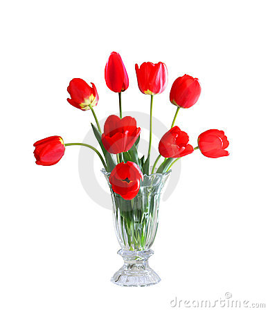 Free Tulips In A Vase Stock Photo - 5123170
