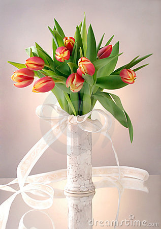 Free Tulips In Vase Royalty Free Stock Photos - 8229438