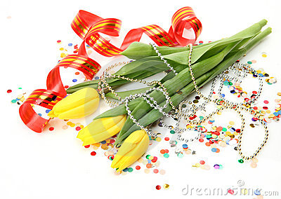 Tulips and streamer