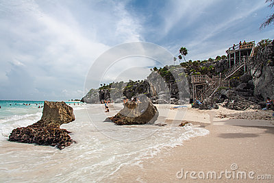 Tulum Beach Yucatan Mexico Editorial Photography