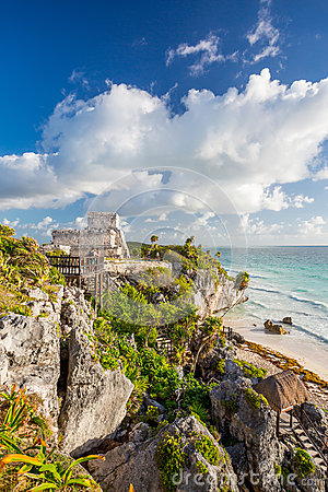 Free Tulum, Mexico. Wind God Temple. Stock Photography - 96309372
