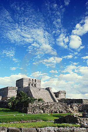 Free Tulum Ruins In Mexico Stock Photos - 4438723