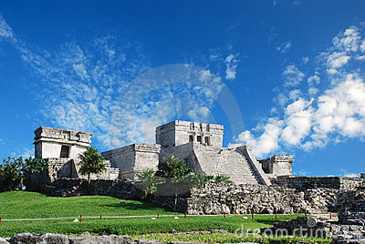 Tulum Ruins In Mexico Royalty Free Stock Images - Image: 7449059