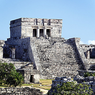 Free Tulum Ruins Square Royalty Free Stock Images - 23552769