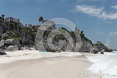 Tulum Ruins Temple and Beach Yucatan Mexico
