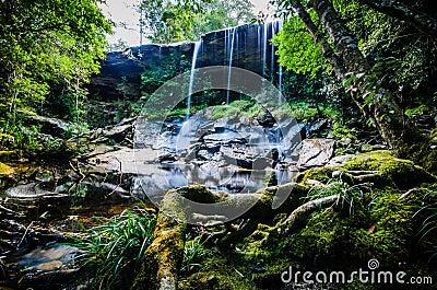 Tum Assim-nem cachoeira, de Tham cachoeira assim Nuea, água de fluxo, fal