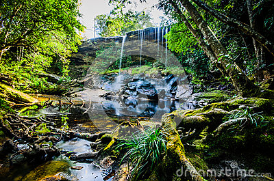 Tum Così-né cascata, di Tham cascata così Nuea, acqua corrente, fal