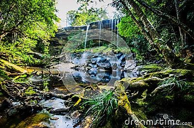 Tum Så-eller vattenfall, Tham så Nuea vattenfall, flödande vatten som är fal