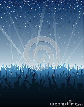 Tłum się rozebrać gwiazdy