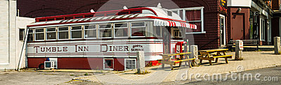Tumble Inn Diner - Wide View Editorial Stock Photo